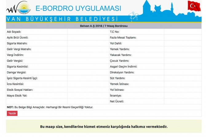Büyükşehir Belediyesi'nde E-bordro dönemi başladı