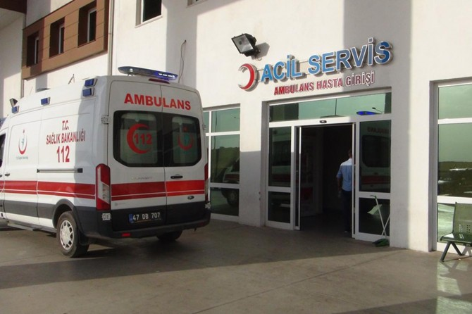 Mardin Nusaybin'de elektrik akımına kapılan işçi yaralandı