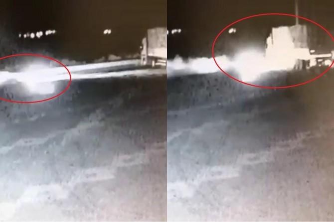 Elazığ Kovancılar'da 3 kişinin öldüğü kaza güvenlik kamerasına yansıdı