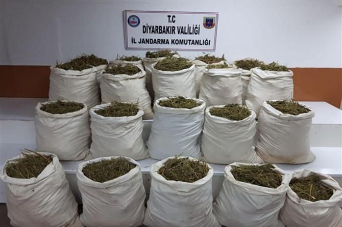 Lice ve Hani'de yüklü miktarda uyuşturucu madde ele geçirildi