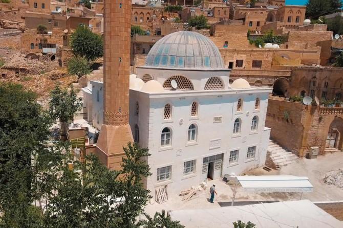 Mardin Tatlıdede Camii'nin dış cephesi yenilendi