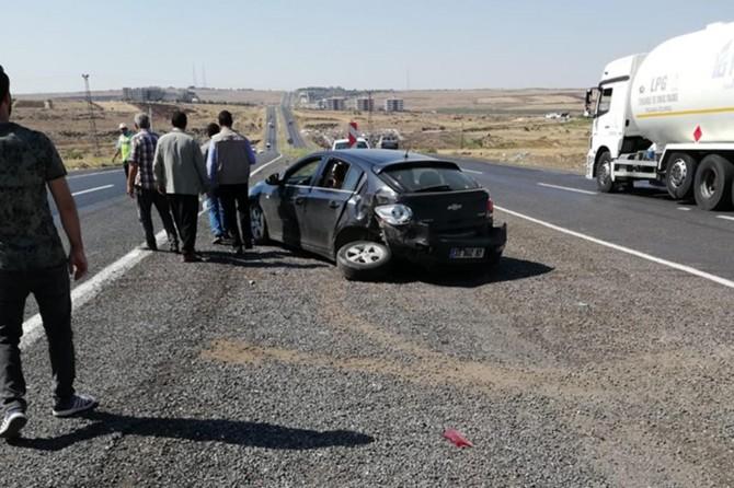 Şanlıurfa Siverek'te maddi hasarlı trafik kazası