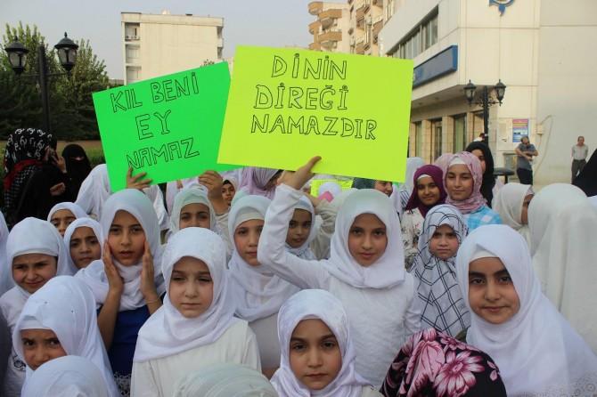 Şırnak Cizre'de çocuklar namaz etkinliğinde buluştu