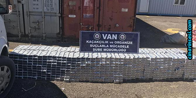Van'da 10 bin 500 paket kaçak sigara ele geçirildi