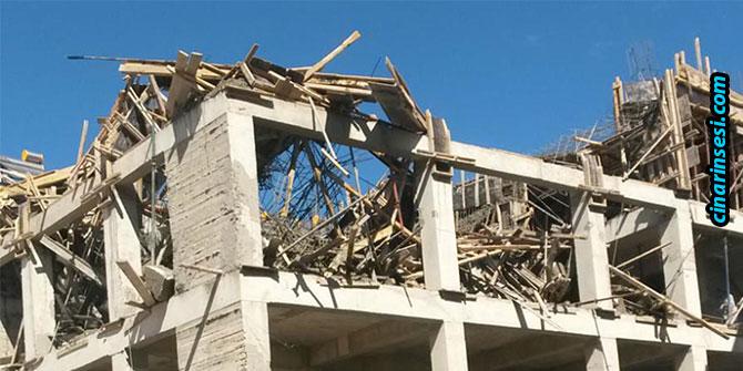 Elazığ Karakoçan'da beton dökümü esnasında inşaat çöktü: 2 yaralı