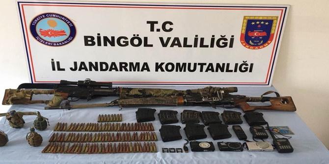 Bingöl'de PKK'lilere ait sığınak içerisinde mühimmat ele geçirildi