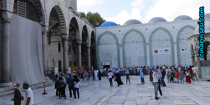 Sultanahmet Camii'nde restorasyon çalışmaları sürüyor