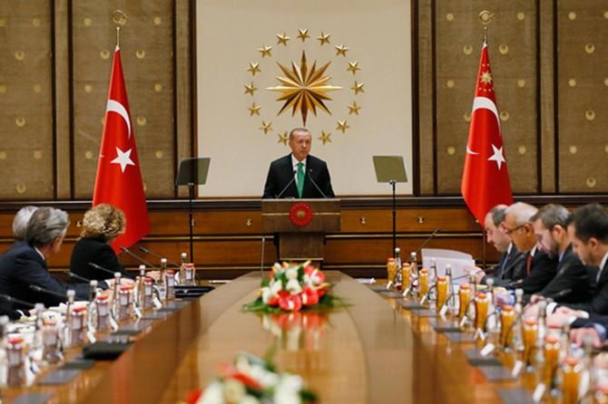 Cumhurbaşkanı Erdoğan, ABD'li şirketlerin temsilcilerini kabul etti