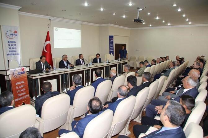 Bingöl'de Afet ve Acil Durum Koordinasyon Kurulu Toplantısı yapıldı