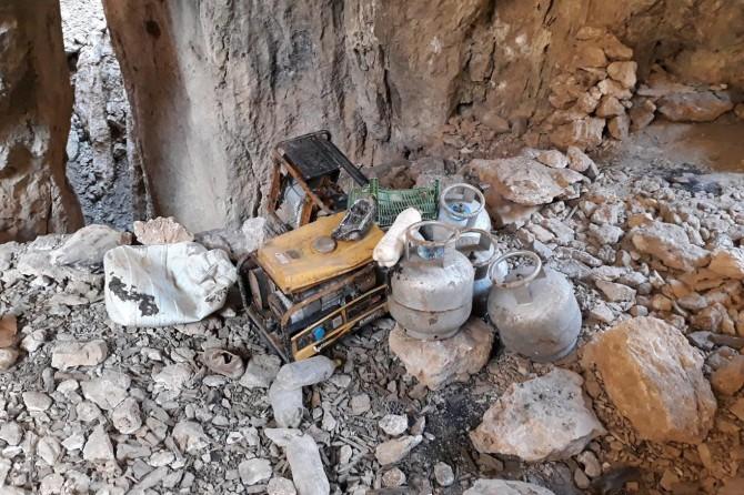 Siirt Pervari'de PKK'ye ait mühimmat ele geçirildi