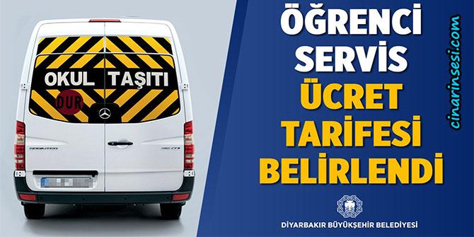 Diyarbakır'da öğrenci servis ücreti ne kadar 2018