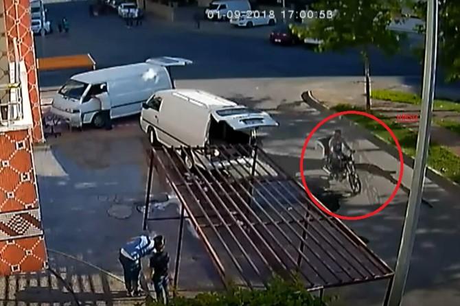 Batman'da gün ortasında motosiklet hırsızlığı