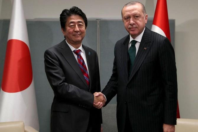 Cumhurbaşkanı Erdoğan'dan Abe ve Michel'le bir araya geldi