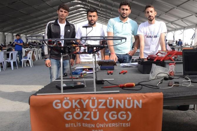 Bitlis Uluslararası İnsansız Hava Araçları Yarışması'na katıldı