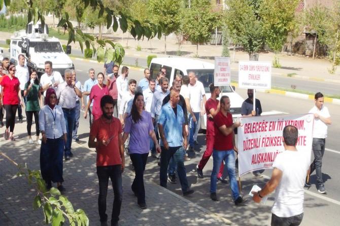 Çınar Hastane personelleri 'sağlıklı yaşam' için yürüdü