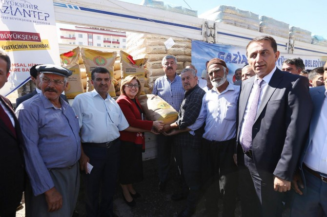 Gaziantep'te çiftçilere buğday ve arpa tohum desteği