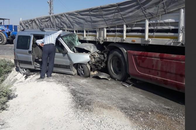 Gaziantep'te TIR ile kamyonet çarpıştı: 5 yaralı
