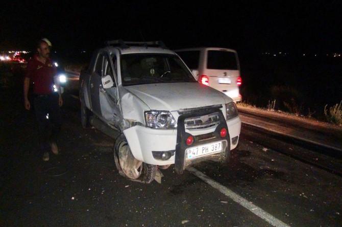 Çınar Beşpınar yakınlarında trafik kazası: 3 yaralı