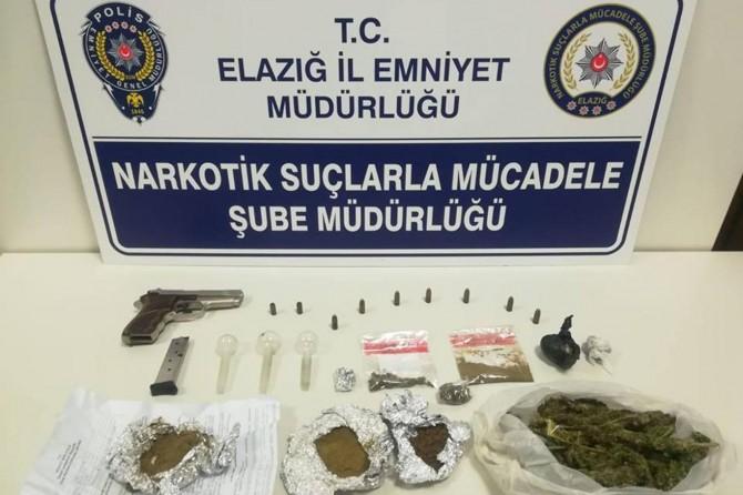 Elazığ'da cezaevi firarisi uyuşturucu maddeyle yakalandı