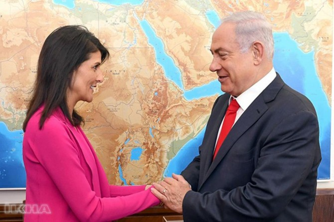 Nikki Haley's resignation saddened zionists