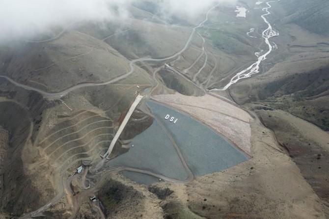 Hamzabey Barajinda su tutulmaya başlandi