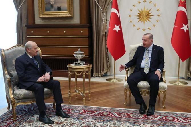 Cumhurbaşkanı Erdoğan ile Bahçeli arasında ittifak görüşmesi