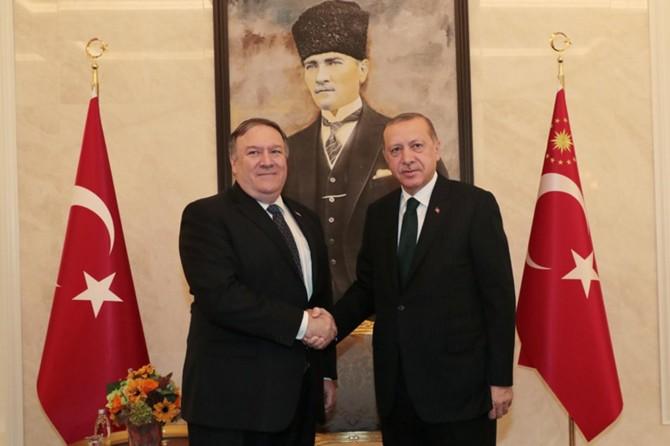 Cumhurbaşkanı Erdoğan, Pompeo'yu kabul etti
