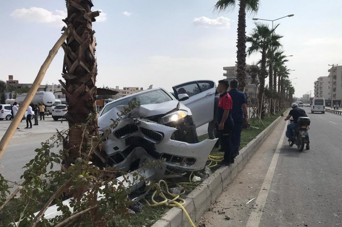 Nusaybin'de maddi hasarlı kaza