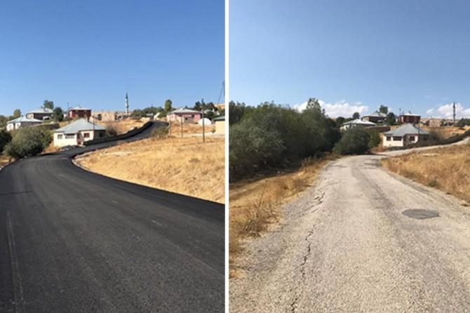 Van'ın Tuşba ilçesinde yollar asfaltlandı