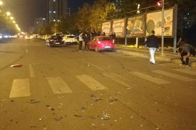 Diyarbakır'da kırmızı ışık ihlali kazaya neden oldu