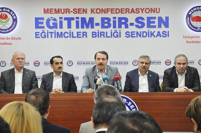 Eğitim-Bir-Sen Genel Başkanı Ali Yalçın: Siyasi irade kararına sahip çıkmalı