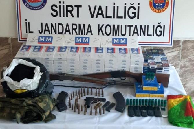 Siirt Pervari'de akaryakıt ve sigara kaçakçılığı yapan 3 kişi yakalandı
