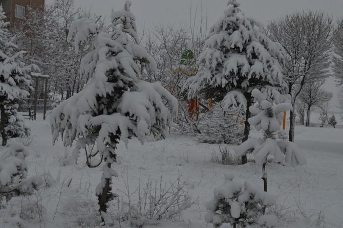 Uludağ mevsimin ilk kar yağışıyla beyaza büründü