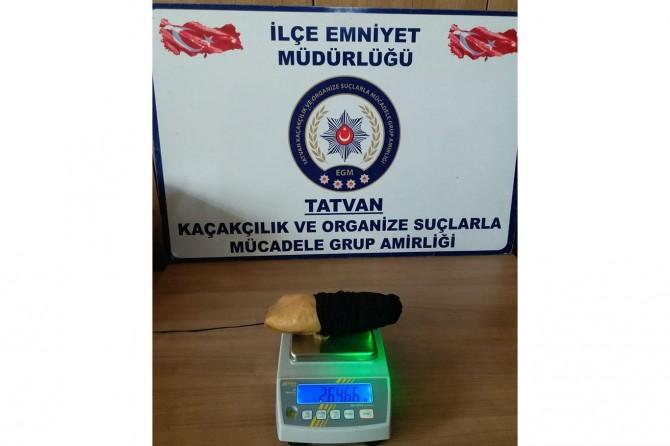 Bitlis Tatvan'da yolcu otobüsünde uyuşturucu ele geçirildi