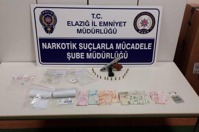 Elazığ'da uyuşturucu operasyonu: 2 gözaltı
