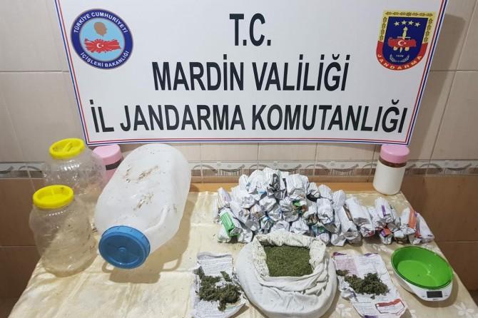 Mardin'de esrar ele geçirildi