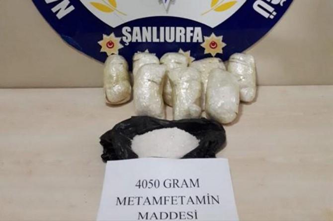 4 kilo metamfetamin ele geçirildi