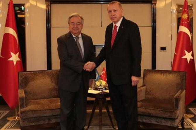 Cumhurbaşkanı Erdoğan Guterres ile görüştü