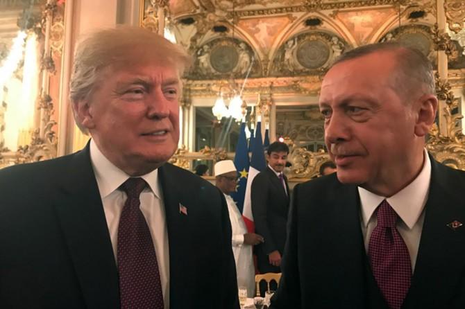 Erdoğan ile Trump yaptırım krizi sonrası ilk defa bir araya geldi
