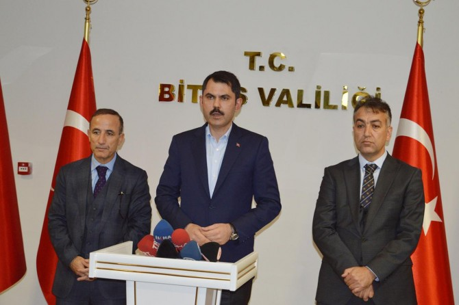 Bakan Kurum: Bitlis'i hak ettiği noktaya getirecek birçok projemiz olacak