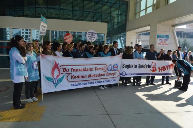 Sağlık çalışanlarından meslektaşlarına yönelik şiddete tepki