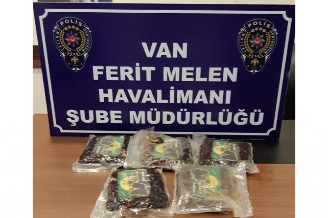 Havalimanında uyuşturucu ele geçirildi