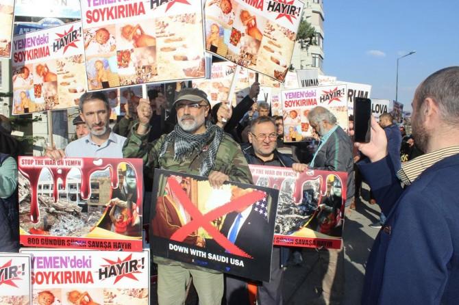 Ankara'daki Suudi Konsolosluğunun önünde protesto