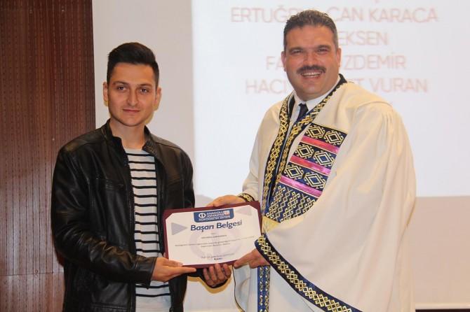 AÖF'de derece yapan öğrencilere başarı belgesi verildi