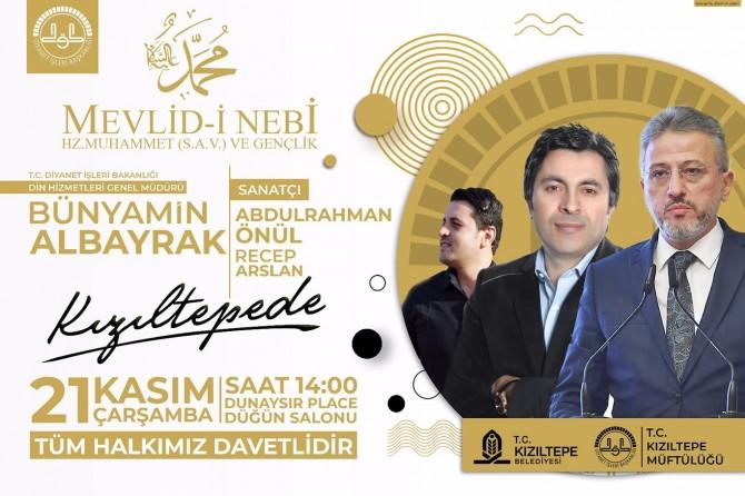 Kızıltepe'de Mevlid-i Nebi etkinliği düzenlenecek
