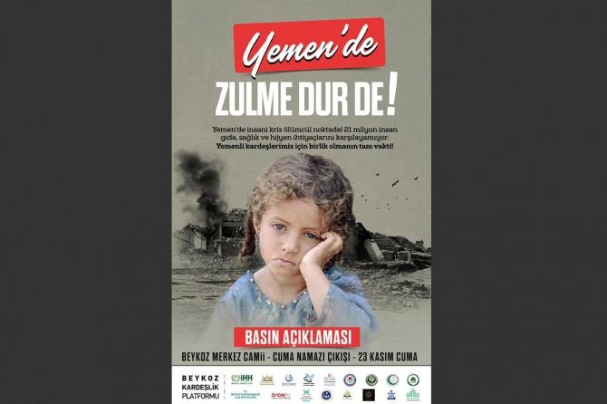 Yemen için yapılacak basın açıklamasına davet