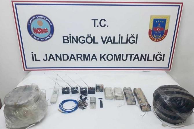 Bingöl'de PKK'ye ait patlayıcı maddeler ele geçirildi