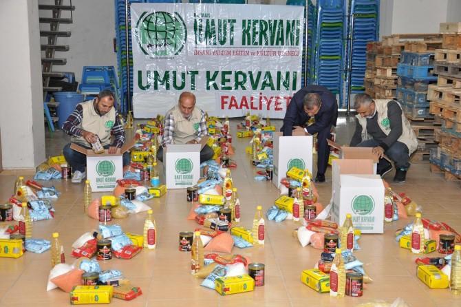 Mevlid Kandili dolayısıyla 150 aileye gıda yardımı ulaştırıldı