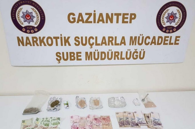 Gaziantep'te uyuşturucu operasyonu: 8 tutuklama