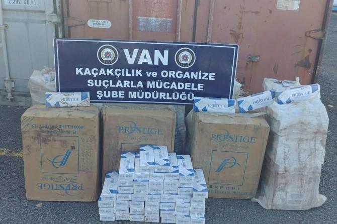Van Özalp'da 5 bin paket sigara ele geçirildi